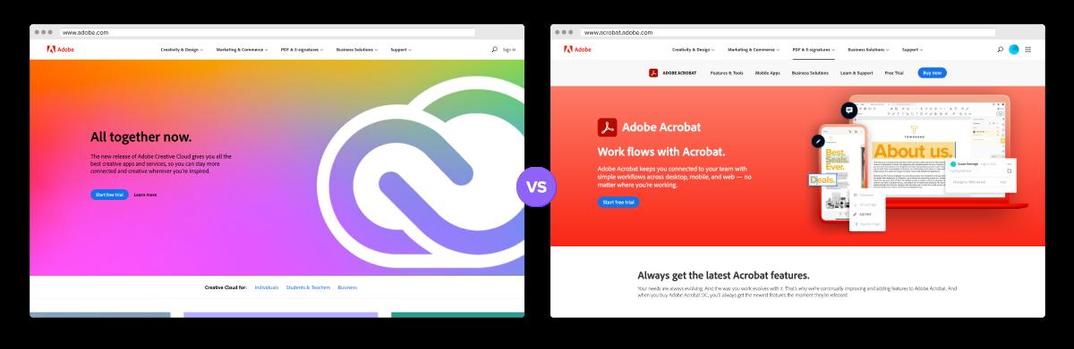Adobe Acrobat Microsite Example