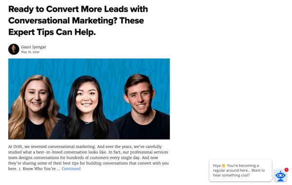 SaaS Content Marketing-Drift