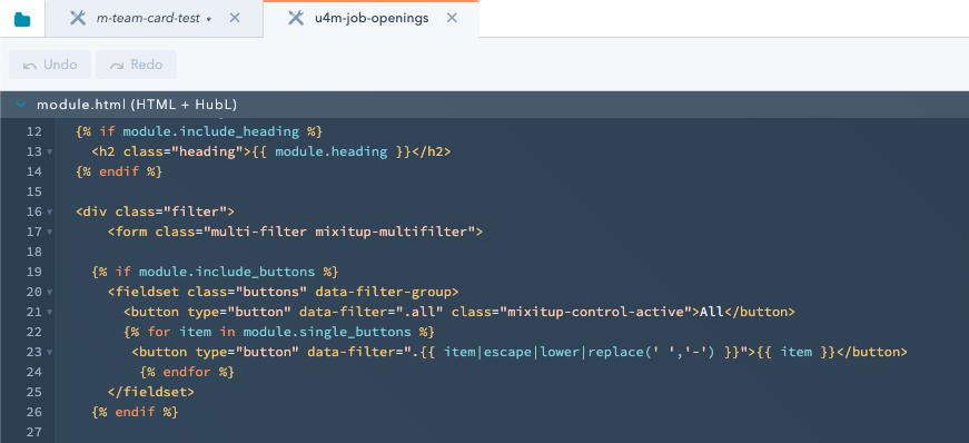 HubSpot CMS custom module in design manager