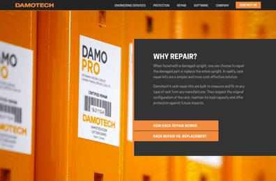 Screenshot of Damotech Website