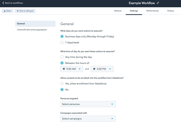 email workflow time delay screenshot