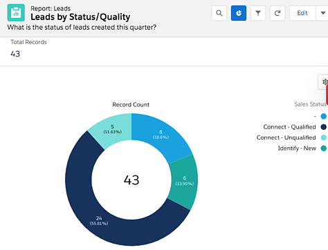 Salesforce report on lead status and qualification