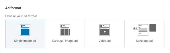 LinkedIn ad format options