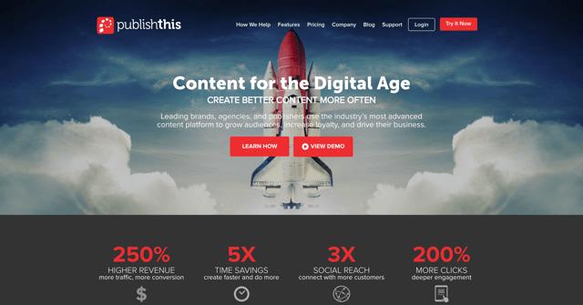 publishthis-homepage-screenshot