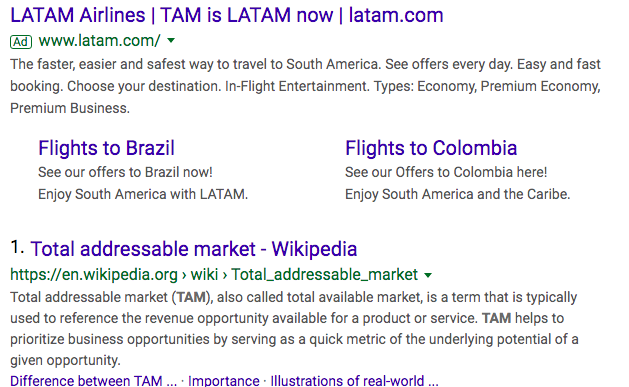 TAM_search_results_with_latam_airlines_ad_and_total_addressable_market_wikipedia