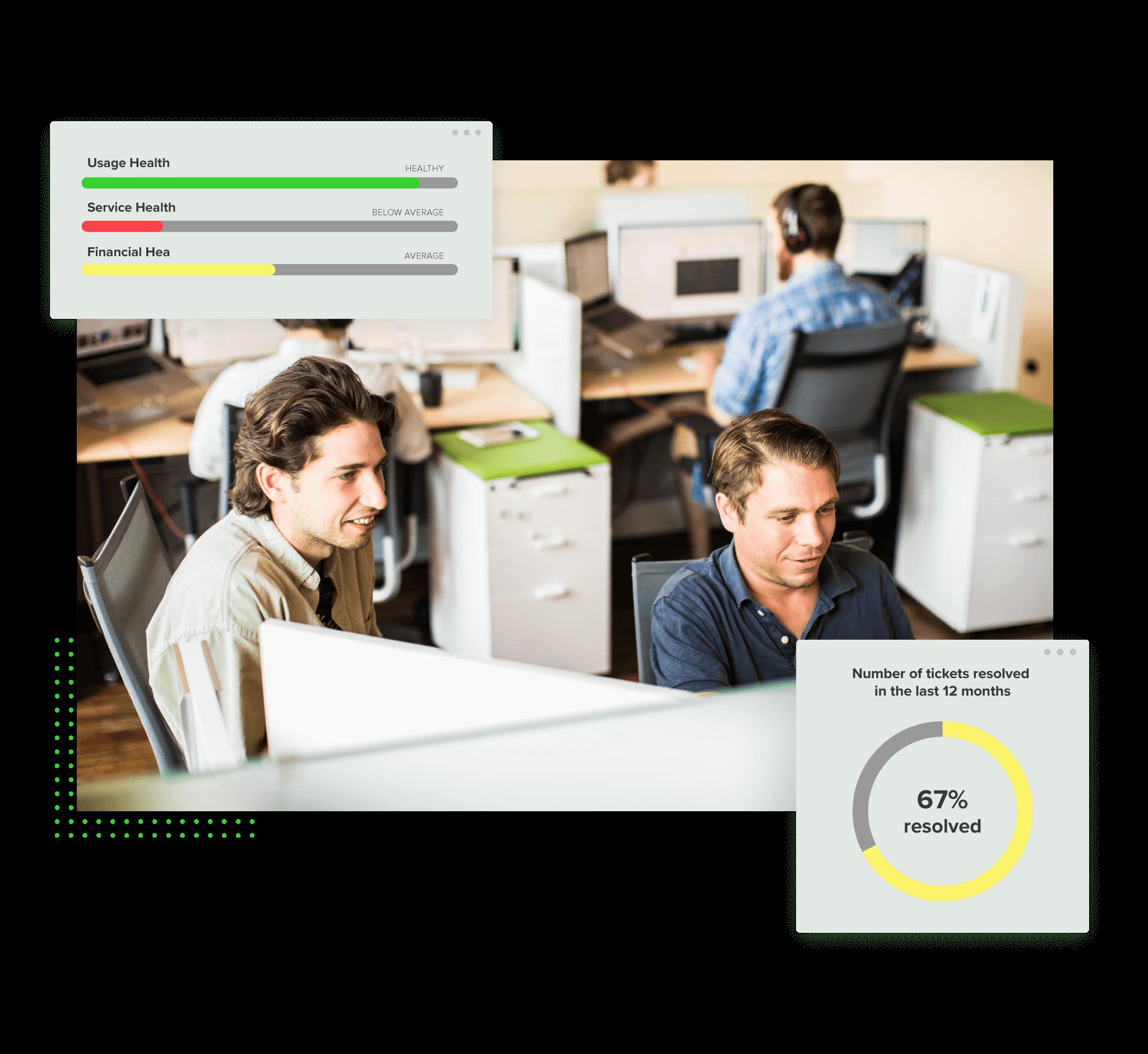 Graphic of New Breed team analyzing customer data