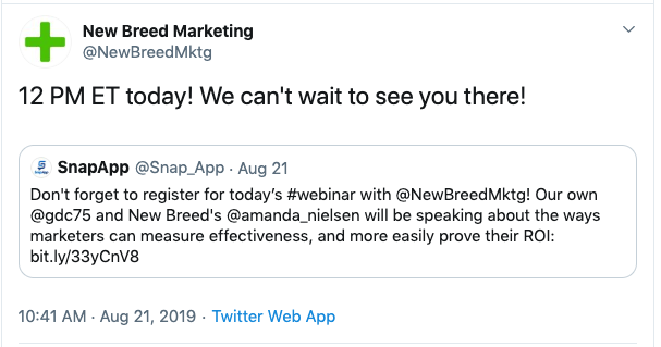new_breed_twitter_post_about_a_webinar
