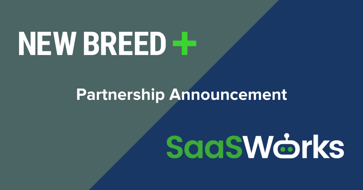 New Breed Announces Partnership with SaaSWorks