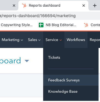 reports_dashboard_tab_with_feedback_surveys_open_on_hubspot