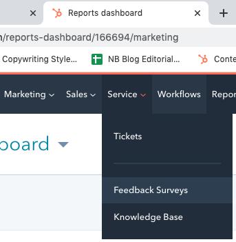 reports_dashboard_tab_with_feedback_surveys_open_on_hubspot