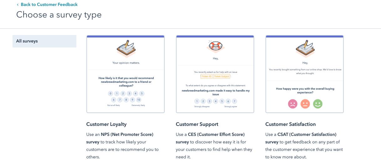 choose_a_survey_type_on_hubspot